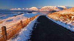 Country Road (blue polaris) Tags: road new travel winter sunset lake snow rural john landscape island high scenery mt south country olympus canterbury basin mount observatory zealand mackenzie omd tekapo 2013 em5