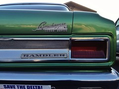 Rambling Schamberger (misterbigidea) Tags: stockton parked roadside americana beauty urban view street auto car classic vintage bumper chromeography emblem badge lettering chrome green rogue rambler hotwheels dealertag flickriosapp:filter=nofilter uploaded:by=flickrmobile explore