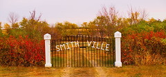 Autumn In Smithville...Proceed With Caution. (cagey u2) Tags: fence gate peace rest smithville