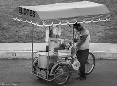 Elotero (gerez2307) Tags: elotero vendor streetphotography blackandwhite blancoynegro comerciante food seller