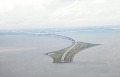 resund bridge (Elmar Eye) Tags: bridge denmark sweden aerial resund