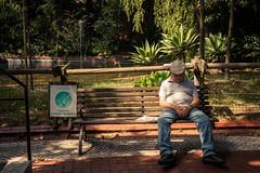 Sport Life (Gilderic Photography) Tags: lisbonne portugal lisbon zoo man sleeping bench humour funny street canon 500d gilderic