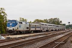 Joliet, Illinois 10/4/2015 (Doug Lambert) Tags: amtk65 p42dc amtrak texaseagle passenger train superliner railroad railfan midwest joliet illinois