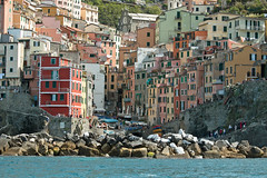 Cinque Terre, Romaggiore (Kurtsview) Tags: cinque terre riomaggiore town village mountains sea architecture travel unesco medieval 15th century