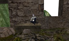 The Good King Sat Upon A Ruined Throne (ReignShadow) Tags: secondlife waves castle ruins tail sea ocean reflection king throne sat sit