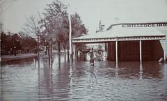 High Street, Euchuca, Victoria in flood (Aussie~mobs) Tags: flood victoria euchuca highstreet cmilledge vintage australia shop store