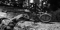 BrooklynBridgePark mono (carloromeros10) Tags: twelve erris moreno brooklyn bridge park ny new york newyork brooklynbridge clock rocks rock