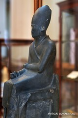 Statue of a Pharaoh (konde) Tags: khasekhemwy khasekhem 2nddynasty earlydynastic hierakonpolis statue schist whitecrown hebsed ancient