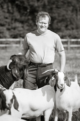 Antony (JohnKemp Photography) Tags: antony commercial outdoor location stone portrait staffordshire goats farmer