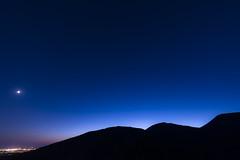 Profili (tommimarc) Tags: calci pisa notturno luna profilo montipisani toscana tuscany italy blu cielo
