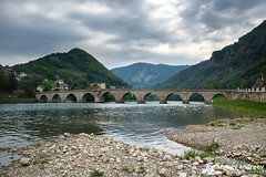 The Bridge on the Drina River in Bosnia and Herzegovina.