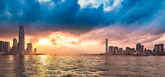 Hongkong Sunset (alexhfotoblicke) Tags: hongkong sunset asia city victoriaharbor nikon d750 1635 sky