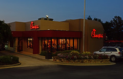 Chick-fil-a (davidwilliamreed) Tags: restaurant afterdark nightshot availablelight dusk twilight bluehour chickfila lilburnga gwinnettcounty