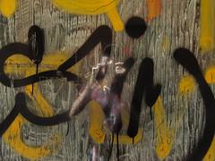 self portrait (maximorgana) Tags: yellow blue dirty street art cartagena selfportrait heart
