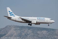 LGAV I 24.08.2016 I Boeing 737-3Q8 I LY-GGC (onemoregeorge.frames) Tags: 2016 737 ath august b733 boeing d40x ellinair greece lgav lyggc nikon omg onemoregeorge