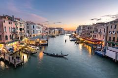 Rialto Sunset, Venice, Italy (David Xian) Tags: rialto venice italy travel nikon tokina 1120 canal bridge sunset sky clouds water gondala boat italian photography 11mm