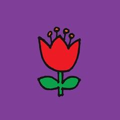 Little flower - red on purple (Cecca W) Tags: surfacepattern fabric repeatpattern patterndesign pattern spoonflower