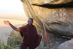 Olduvai Tanzania (Ferdinand Reus) Tags: masai tanzania olduvai kopje spear rock africa painting