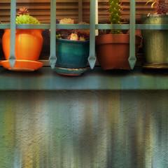 oakland window garden (msdonnalee) Tags: flowerpots plants windowplants succulents ortonfx digitalfx digitaleffects digitalpainting plantasenmaceta vasosdeplantas topfplantzen  plantesenpots pianteinvaso magicunicornverybest