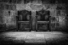 Take a seat (Rayoflightbe) Tags: normandi travel normandy mont saint michel abbey black white chairs