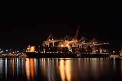 APL Sentosa Docked at Southampton (mme1998) Tags: ship boat vessel dock sea coast southampton southcoast southamptondocks night dark longexposure docks berthed apl sentosa containership nikon d3300 dslr 1855mm