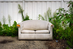 (255/366) Striped (CarusoPhoto) Tags: iphone 6 plus john caruso carusophoto photo day project 365 366 couch alley find garbage light beautiful natural stripes striped banal mundane ordinary everyday odd interesting sofa
