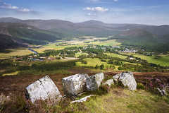Looking over Braemar (Neillwphoto) Tags: morrone ascent hills braemar rocks boulders sunny