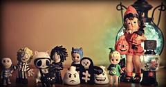Halloween starting to crrrreeeeepppp in :) (Lawdeda ) Tags: halloween is favorite the usual suspects nightmare before christmas beetlejuice edward scissorhands ghostbusters sonny angel werewolf witch vintage like figurine picmonkey