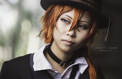 Chuya Nakahara (jfinitystudios) Tags: cosplay portrait face eyes beautiful canon 135mm f2l retouch skin edit sharp portraits portraiture costume girl bungo stray dogs cute editing serious stare jfinity photography nostrobistinfo removedfromstrobistpool seerule2