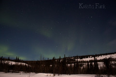 Faint Northern Lights over the North Klondike Highway (Krista Funk's Photos) Tags: sky night stars northernlights auroraborealis northklondikehighway