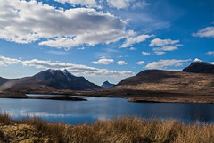(charly-marion) Tags: blue sky snow mountains water clouds scotland spring hills loch sutherland upland knockancrag
