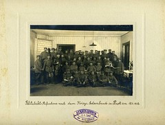 Rabbi Arnold Taenzer with soldiers after Passover Seder in Pinsk, Belarus (Center for Jewish History, NYC) Tags: belarus armee passover militär pesach seder jewishholidays pinsk weisrussland pinskbelarus arnoldtaenzer