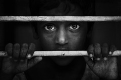 untiled (thiagu clicks) Tags: portrait blackandwhite bw window kid intense eyes dream cwc indianportraits chennaiweekendclickers thiaguphotography thiaguclicks thiagarajankaatchikuviyam thiagarajanphotography