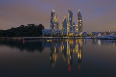 Singapore : Reflections at Keppel Bay. (alamsterdam) Tags: architecture reflections singapore libeskind keppelbay