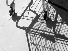 Abstract Cart and Shadows (shaire productions) Tags: shadow blackandwhite bw abstract lines metal composition photography photo blackwhite image artistic picture shoppingcart ground pic photograph wires abstraction framing grayscale cart capture imagery greyscale