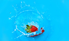 strawberry splash (Naina_94) Tags: water photoshop splash