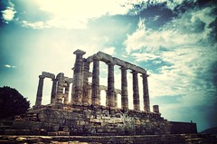 Temple of Poseidon.- (ancama_99(toni)) Tags: cruise summer vacation architecture arquitectura nikon hellas greece grecia poseidon vacaciones crucero  10favs 50faves 10faves 2013 50favs 35favs 25favs 35faves 25faves ltytr1 d7000 blinkagain uploaded:by=flickrmobile flickriosapp:filter=mammoth mammothfilter
