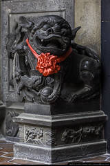 Guardian Stone Lioness  (olvwu | ) Tags: city sculpture art stone temple folkart traditional chinese lion taiwan historic  tao chiayi taoist guardian touristspot  religiousart  traditionalarchitecture historicsite historicbuilding  jungpangwu oliverwu oliverjpwu chiayicity     chiayicounty  olvwu chenhuangtemple  jungpang  chiayichenhuangtemple
