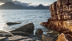 Joe's Rock (mcb photography) Tags: uk cliff skye rock scotland boulder loch honeycomb elgol scavaig mikebarber joecornish