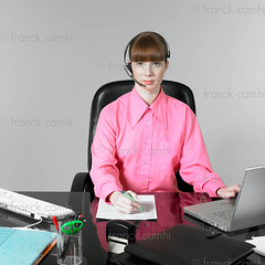 funny woman at the office (Franck Camhi) Tags: 20s telecommunications beautiful beauty behavior business businesswoman caucasian communication computer computing concepts conceptual cutout cute desk discussion emotions exhausted expressing expressions expressive face fatigue female funny girl headset headshot humor humour job laptop mobilephone office onthephone operator pc people person phone phonecall pink pinkshirt portrait redhead secretary sleepy studioshot table task telephone tired using white woman working young paris france