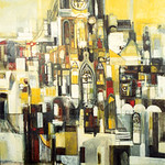 """<b>Ohio Cathedrals</b><br/> Eckheart, #1998:09:01, Oil, Painting<a href=""""http://farm9.static.flickr.com/8118/8655585282_2aa560e504_o.jpg"""" title=""""High res"""">∝</a>"""