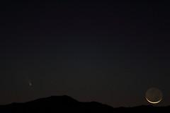 Moon and Comet Setting (Az Skies Photography) Tags: arizona sky rio skyline night canon skyscape eos rebel az rico comet arizonasky 2013 riorico panstarrs rioricoaz t2i arizonaskyline arizonanightsky canoneosrebelt2i eosrebelt2i arizonaskyscape cometpanstarrs