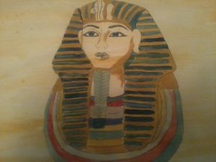 tutankhamon (justamy95) Tags: art collage painting colorful paint drawing egypt inspired outline tutankhamun unquie