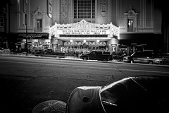 Castro Theatre San Francisco (b/w version) (AllardSchager.com) Tags: sanfrancisco california street longexposure nightphotography blackandwhite bw usa cinema motion classic cars monochrome architecture america reflections spring nikon theater neon nightshot theatre zwartwit unitedstatesofamerica streetphotography landmark le neonlights april classical 100 1922 amerika lente timeless movietheater californie streetshot zw gevel castrodistrict castrotheatre castrostreet tiltshift 2013 d700 nikond700 nikonfx allardone allard1 allardschagercom nikkor24mmf35pcetiltshift sanfranciscohistoriclandmark spanishcolonialbaroquefacade
