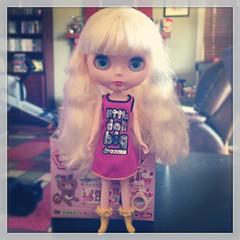 She got here so fast!! She needs a hair washing asap! #blythe