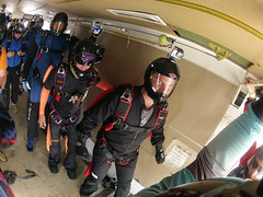 """Boogie Bonanza 2013, waiting for our turn at the door (divemasterking2000) Tags: party sky skydiving flying spring al jump jumping alabama dive diving celebration gathering western april boogie theme skydive canopy themed dropzone parachuting apr sda parachute dz bonanza canopies skyjump gather parachutes skyflying """"western skyfly 2013 skyjumping theme"""" """"boogie alabama"""" """"skydive bonanza"""" themed"""""""