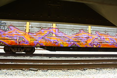 Agod (MR. NIC GUY ^.^) Tags: california road art yard train bench graffiti losangeles rail freight rk graffitiart agod kog monikers