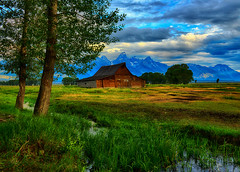 Summer at the Moulton Barn (Jeff Clow) Tags: grandtetonnationalpark jacksonholewyoming moultonbarn thomasamoultonbarn tpslandscape