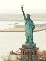 Statue Of Liberty From Above (noamgalai) Tags: above nyc newyorkcity usa ny newyork monument statue liberty freedom unitedstates helicopter torch hudsonriver hudson statueofliberty heli ladyliberty