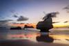 Morning Glow (Nick Twyford) Tags: longexposure sea newzealand seascape clouds sunrise reflections dawn islands nikon rocks wideangle northisland coromandel eastcoast rockstack hahei cathedralcove earlymorninglight colourimage mercurybay leefilters 1024mm d7000 lee09nd lee06gndsoft